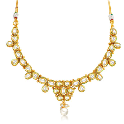 Sukkhi Marvellous Gold Plated Kundan Necklace Set-3