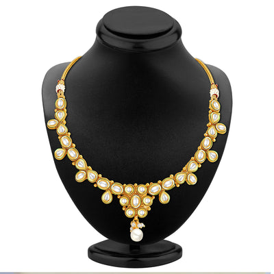 Sukkhi Marvellous Gold Plated Kundan Necklace Set-2
