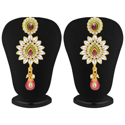 Sukkhi Gorgeous Five Strings Gold Plated Kundan Necklace Set-4