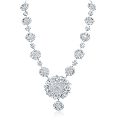 Sukkhi Astonishing Rhodium Plated AD Necklace Set-3