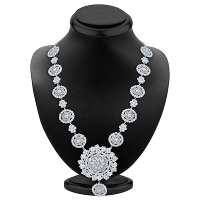 Sukkhi Astonishing Rhodium Plated AD Necklace Set-2