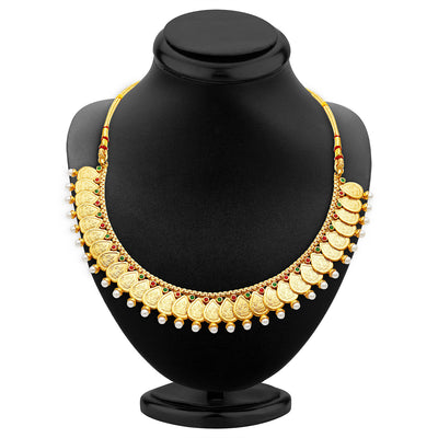 Sukkhi Magnificent Gold Plated Temple Jewellery Necklace Set-2