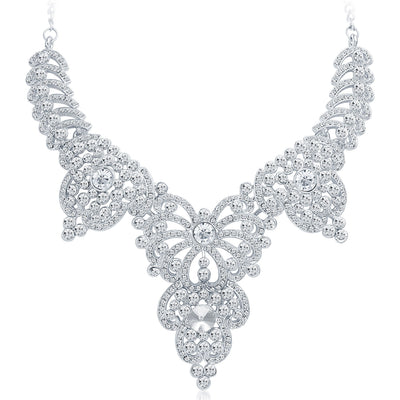 Sukkhi Marvellous Rhodium Plated AD Necklace Set-3