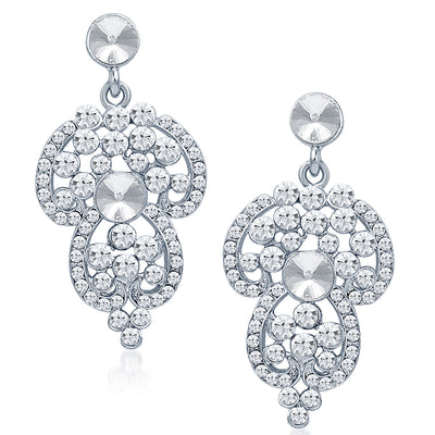 Sukkhi Marvellous Rhodium Plated AD Necklace Set-5