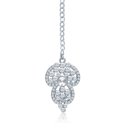 Sukkhi Marvellous Rhodium Plated AD Necklace Set-7