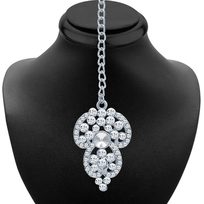 Sukkhi Marvellous Rhodium Plated AD Necklace Set-6