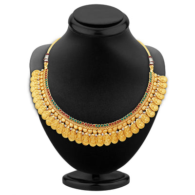 Sukkhi Sublime Gold Plated Temple Jewellery Necklace Set-2