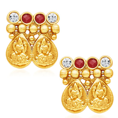 Sukkhi Modern Gold Plated Temple Jewellery Necklace Set-5