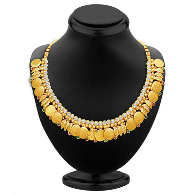 Sukkhi Modern Gold Plated Temple Jewellery Necklace Set-2