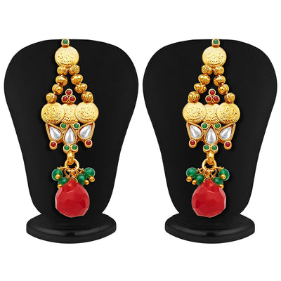Sukkhi Marvellous Gold Plated Temple Jewellery Necklace Set-4