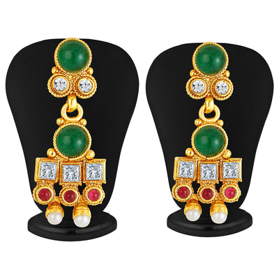 Sukkhi Dazzling Gold Plated AD Necklace Set-4