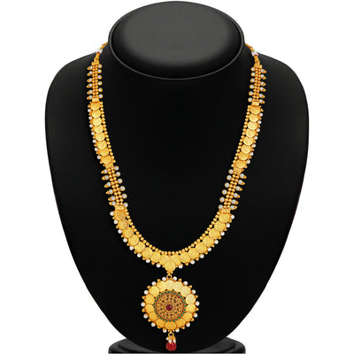 Sukkhi -  Kritika Kamra Traditional Gold Plated Temple Coin Necklace Set-3