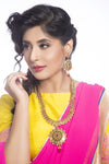 Sukkhi -  Kritika Kamra Traditional Gold Plated Temple Coin Necklace Set