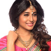 Sukkhi -  Kritika Kamra Pretty Gold Plated Kundan Three Strings Wedding Necklace Set