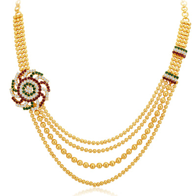 Sukkhi Excellent Four Strings Gold Plated Necklace Set-3