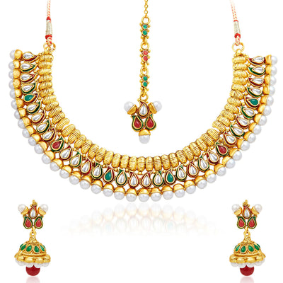 Sukkhi Charming Gold Plated Necklace Set-1