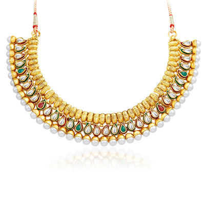 Sukkhi Charming Gold Plated Necklace Set-3