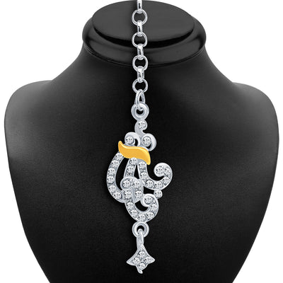 Sukkhi Fine Gold and Rhodium Plated AD Necklace Set-6