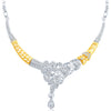 Sukkhi Pretty Gold and Rhodium Plated AD Necklace Set-3