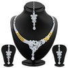 Sukkhi Pretty Gold and Rhodium Plated AD Necklace Set