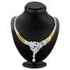 Sukkhi Pretty Gold and Rhodium Plated AD Necklace Set-2