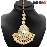Sukkhi Glorious Gold Plated AD Necklace Set with Set of 5 Changeable Stone-6