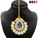 Sukkhi Resplendent Gold Plated AD Necklace Set with Set of 5 Changeable Stone-6