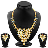 Sukkhi Ethnic Peacock Gold Plated AD Necklace Set For Women
