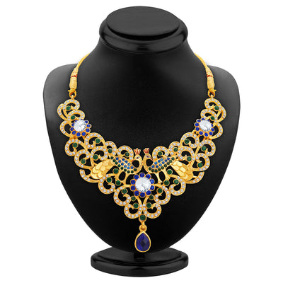 Sukkhi Exquisite Gold Plated AD Necklace Set For Women-2