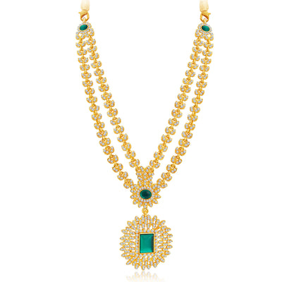 Sukkhi Exquitely Gold Plated AD Necklace Set For Women-4