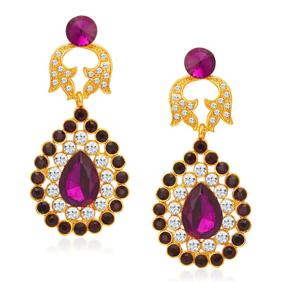 Sukkhi Fabulous Gold Plated AD Necklace Set For Women-5