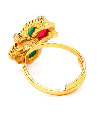 Sukkhi Creative Gold Plated Australian Diamond Stone Studded Toering-2