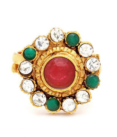 Sukkhi Gracefull Gold Plated Australian Diamond Stone Studded Toering-1
