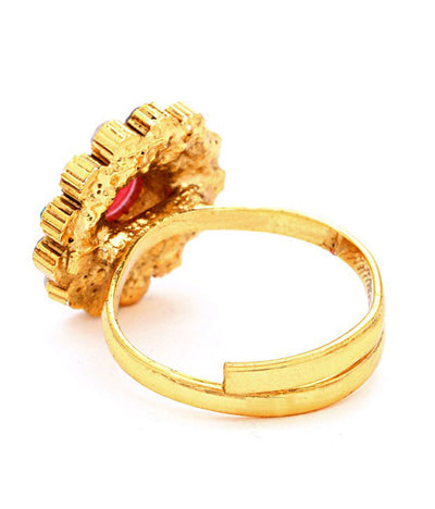 Sukkhi Gracefull Gold Plated Australian Diamond Stone Studded Toering-2