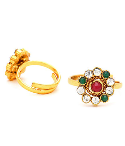 Sukkhi Briliant Gold Plated Australian Diamond Stone Studded Toering