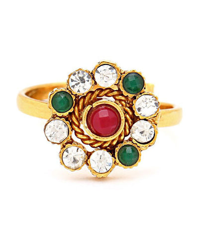Sukkhi Briliant Gold Plated Australian Diamond Stone Studded Toering-1