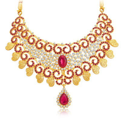 Sukkhi Elegant Gold Plated AD Necklace Set For Women-4