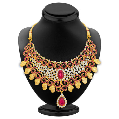Sukkhi Elegant Gold Plated AD Necklace Set For Women-2
