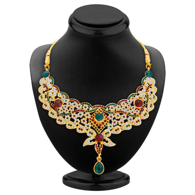 Sukkhi Appealing Gold Plated AD Necklace Set For Women-2