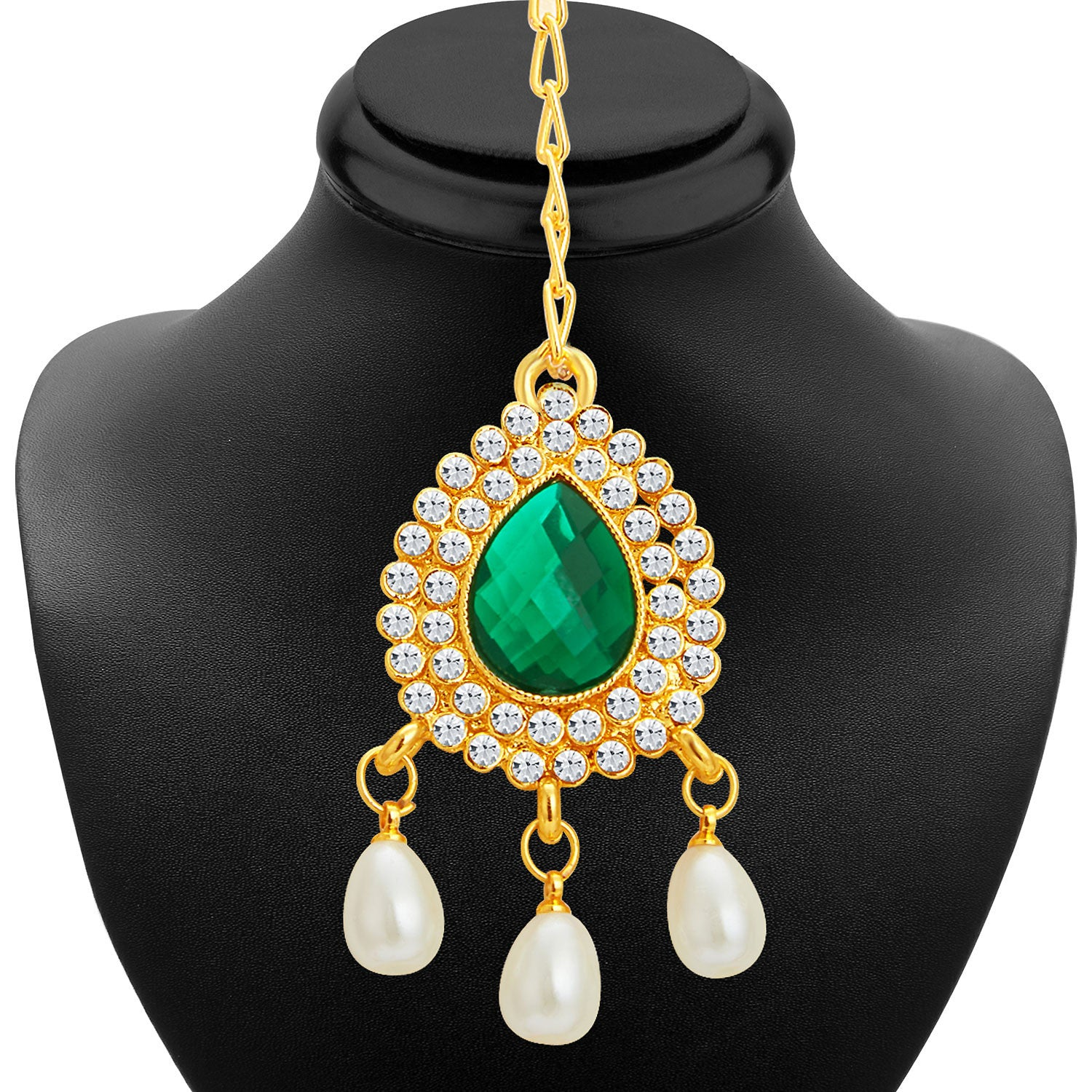 Sukkhi Traditional Gold Plated Necklace Set: Sukkhi Exotic Gold Plated AD Necklace Set For Women