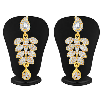 Sukkhi Dazzling Gold Plated AD Necklace Set For Women-3