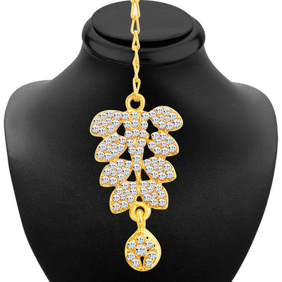Sukkhi Dazzling Gold Plated AD Necklace Set For Women-4