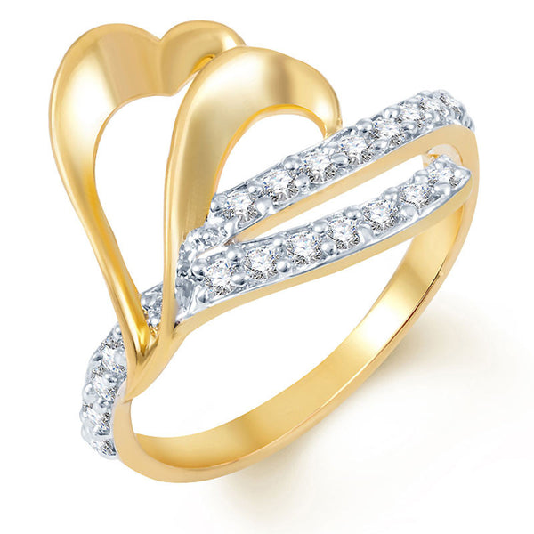 Sukkhi Ravishing Gold and Rhodium Plated CZ Ring