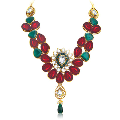 Sukkhi Appealing Gold Plated Kundan Necklace Set For Women-3