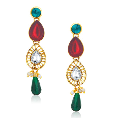 Sukkhi Appealing Gold Plated Kundan Necklace Set For Women-5