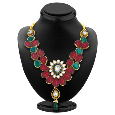 Sukkhi Appealing Gold Plated Kundan Necklace Set For Women-2