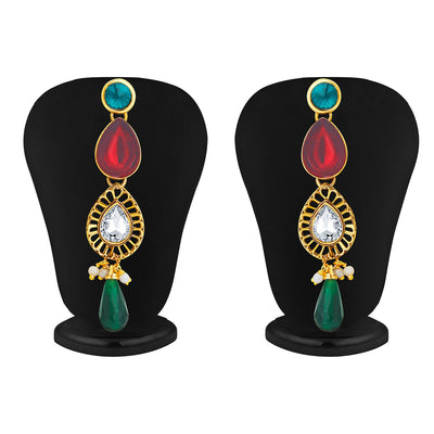 Sukkhi Appealing Gold Plated Kundan Necklace Set For Women-4