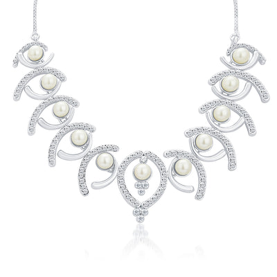 Sukkhi Royal Rhodium Plated AD Necklace Set For Women-3