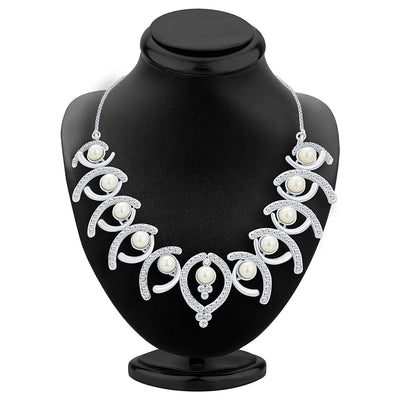 Sukkhi Royal Rhodium Plated AD Necklace Set For Women-2