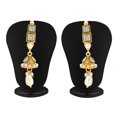 Sukkhi Finely Gold Plated Kundan Necklace Set For Women-3